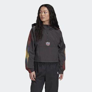 Women's Adicolor Half- Zip Crop Top Size L
